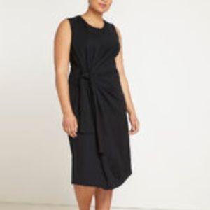 Eloquii Tie Front Midi Dress